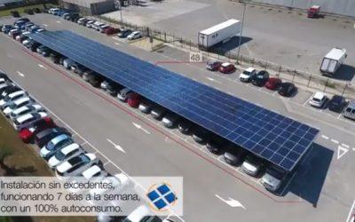 Instalación de marquesina solar para autoconsumo