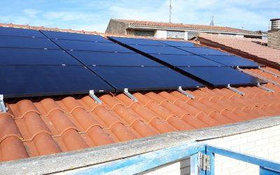Instalacion solar de autoconsumo de 8.37 KWp en Casino San Blas de Milagro.