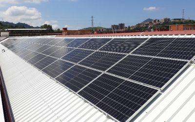 Trabajo fotovoltaico terminado de 36,4 Kwp en empresa de mantenimiento y fabricación de material ferroviario en Vizcaya.